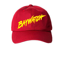 Talento Baywatch Dad Hat In Red
