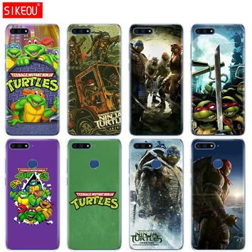 Silicone Cover Phone Case For Huawei Honor 7A PRO 7C Y5 Y6 Y7 Y9 2017 2018 Prime TMNT Teenage Mutant Ninja Turtles