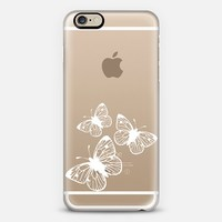 White Butterflies in Flight iPhone 6 case by Organic Saturation | Casetify
