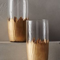 Imperial Caviar Highball Glasses by Anthropologie in Gold Size: S/2 Highball Glassware