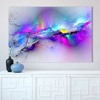 Canvas Paintings Wall Art HD Prints Framework 1 Piece/Pcs Abstract Unreal Pink Cloud Landscape Pictures Nebula Poster Home Decor