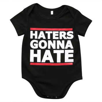 Haters gonna hate  Baby Onesuit Romper Sleeper