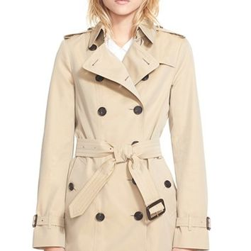 Women's Burberry London 'Sandringham' Short Slim Trench Coat,