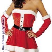 Women's Santa's Sweetie Red Adult Costume for Christmas