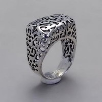 Thin Lace Ring Handmade Sterling Silver Filigree by toolisjewelry