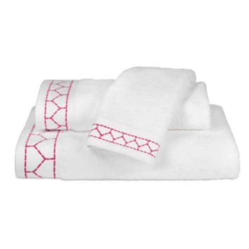 Linah Embroidered Towel Collection Pink