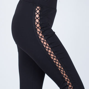 Side Lace-Up Leggings