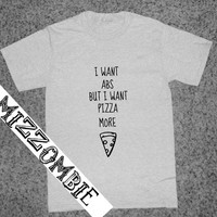 PIZZA shirt  UNISEX crew neck t-shirt