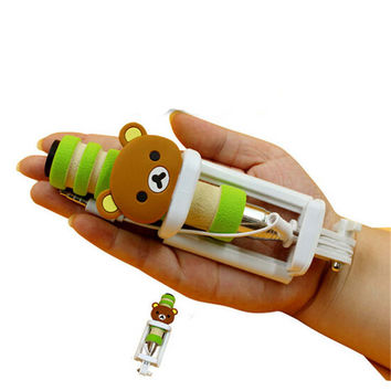 Mini Pocket Cute Bear Selfie Stick for Any Phone