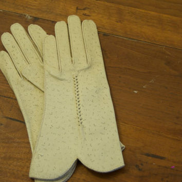 Vintage Womens Leather Dress Gloves extra small