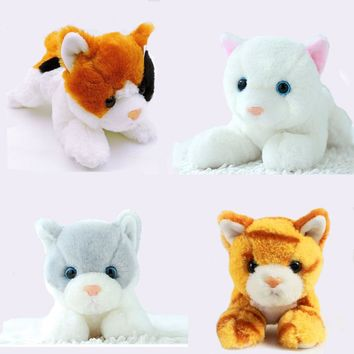 1pc 20cm Small Kawaii Kitten Cat Plush Toy Stuffed Simulational Cats Soft Kids Toys for Children Gifts Decor Collection