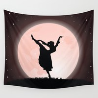 Moon Dancer Wall Tapestry by Texnotropio