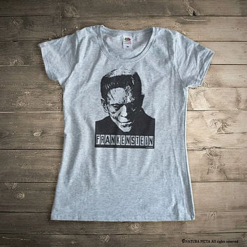 FrankensteinT-shirt-Halloween T-shirt-movie tee-men T-shirt-Frankenstein tee-Halloween costume-women tees-graphic tees-NATURA PICTA-NPTS099
