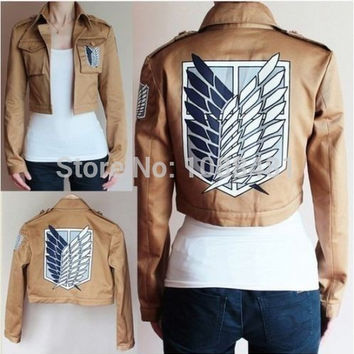 Attack on Titan Jacket Shingeki no Kyojin jacket Legion Cosplay Costume Jacket Coat Any Size High Quality Eren