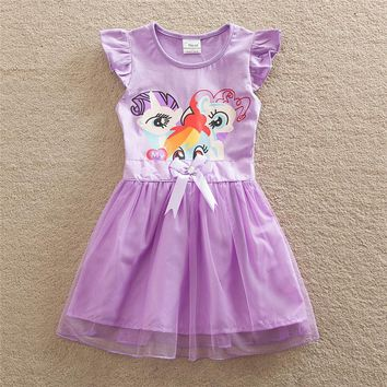 2017 Girls Dress Clothes Vestidos Girl Summer Princess Tutu Dresses Pony Vestido Infantil Costume For Kids Deguisement Enfant