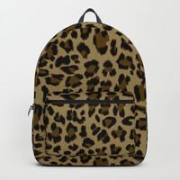 Leopard Print Pattern Backpacks by Smyrna