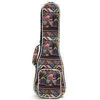 "21"" 23"" 26'' Ukulele Instrument Bags Ukelele Bag With Double Shoulder Strap Bag Canvas Guitar Bags & Cases National Wind"