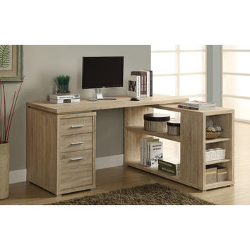 Corner L-Shaped 3 Drawer Writing Desk
