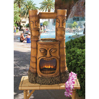 """""""Tiki Gods of Fire and Water"""" Fountain - SH382465 - Design Toscano"""