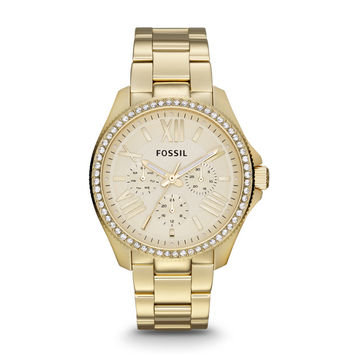 Cecile Multifunction Gold-Tone Stainless Steel Watch - $165.00