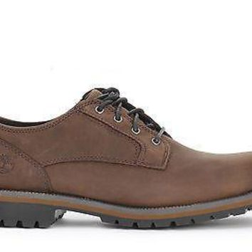 Timberland EK Mens Oxford Shoes Hartwick Plain Toe WP Brown Oiled 9632A