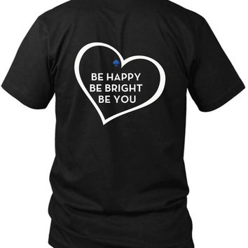 Be Happy Be Bright Be You Kate Spade 2 Sided Black Mens T Shirt