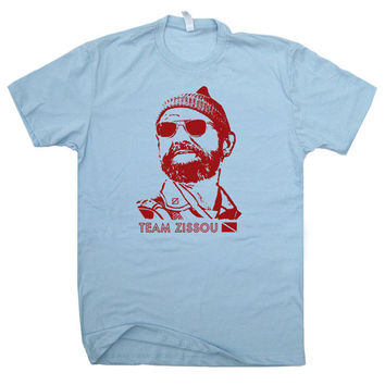 The Life Aquatic T Shirt Team Zissou Scuba diving T Shirts Funny vintage women's / mens T Shirt