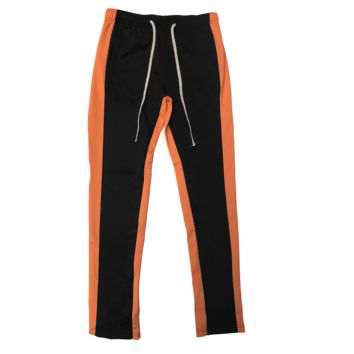 Black/Orange Track Pants