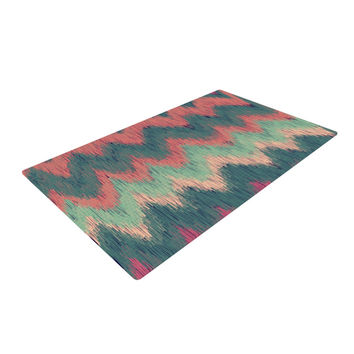 "Nika Martinez ""Ikat Chevron"" Multicolor Woven Area Rug"