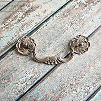 Decorative Drawer Pull Clam Shell Pull KBC Coastal Cottage Drop Bail Pull Silver Drawer Pull Victorian Dresser Pull Silver Bail Pulls