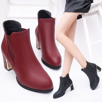 ac PEAPON On Sale Hot Deal Dr. Martens Winter England Style With Heel Waterproof Zippers Boots [9257016716]