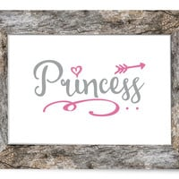 PRINCESS - Nursery Print