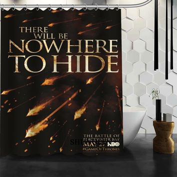 Best Nice Custom Game of Thrones War is Coming Shower Curtain Bath Curtain Waterproof Fabric Bathroom Curtain MORE SIZE A6.1-92