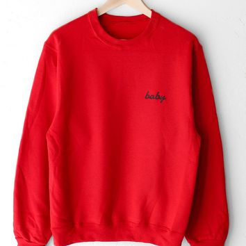 Baby Oversized Sweatshirt - Red