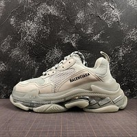 Balenciaga Triple S Clear Sole Trainers Sneakers SNEAKER TESS.S.GOMMA Grey With Air Bubble