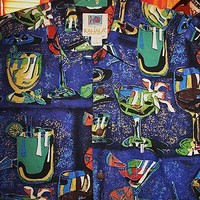 KAHALA  HAWAIIAN SHIRTS VINTAGE PARTY DRINKS CASUAL!SIZE L !MADE IN HAWAII