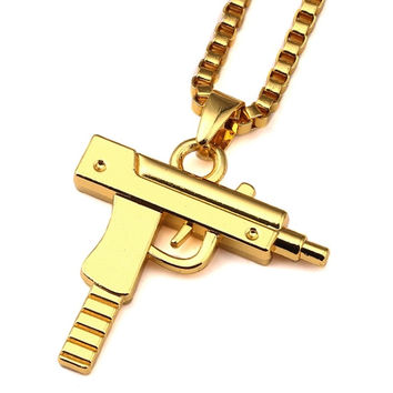 Extendo Clip Uzi 18K Gold Plated Necklace