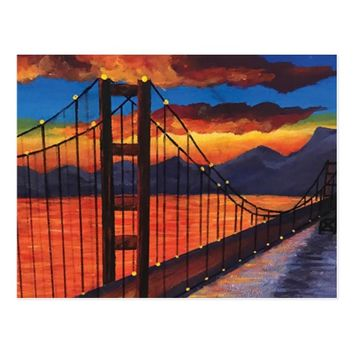 Golden Gate Bridge , San Francisco Postcard