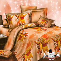 Tigger and Winnie The Pooh Quilt Cover and Bedding Set