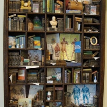 Miniature Library miniature thematic Doctor by bagusitaly on Etsy