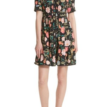 kate spade new york blossom print fluid shirtdress | Nordstrom