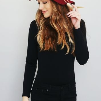 Feather Accent Burgundy Fedora Hat