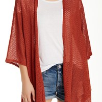 Open Front Boxy Cardigan