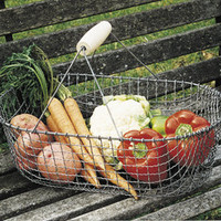 Vegetable Harvest Basket | Steel Basket | Kinsman Garden