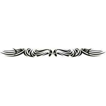TRIBAL DESIGN No. 4 Arm Band Temporary Tattoo 1.5x9
