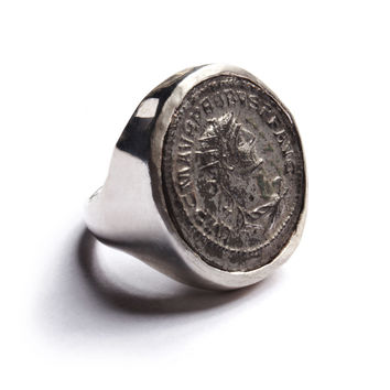 Romain Empire Coin Silver Ring: Probus