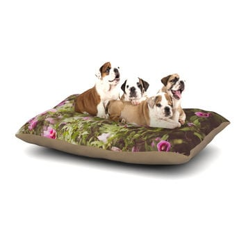 "Ann Barnes ""Lush"" Green Pink Dog Bed"