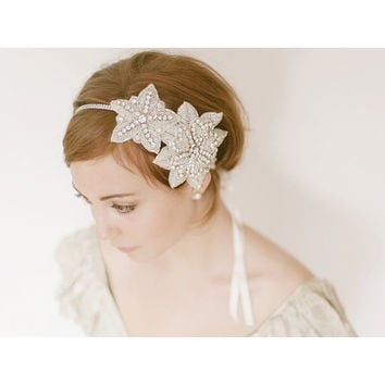 Prohibition Era 1920s Flapper Bridal Headband 941