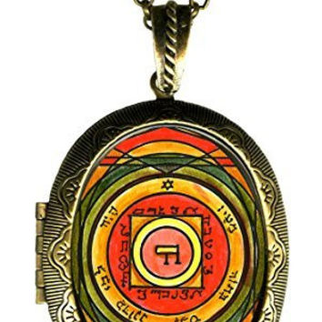 Solomons 5th Venus Seal for Inciting Love & Attraction Xl Solid Perfume Locket Gold Bronze