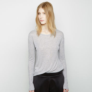 Oversized Ribbed Melange Longsleeve by T by Alexander Wang